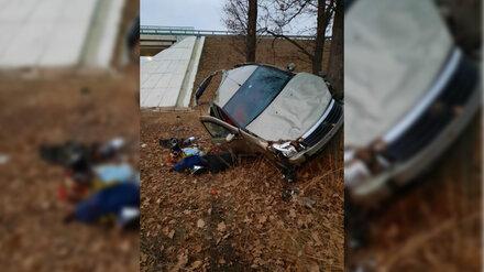 На М-4 «Дон» под Воронежем в перевернувшемся авто пострадал ребёнок