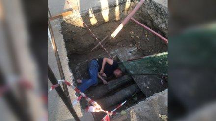 В Воронеже мужчина упал в котлован