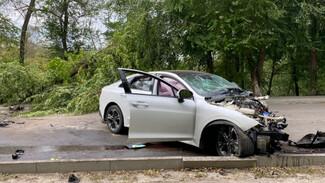 В воронежском селе Kia врезалась в дерево: два человека в больнице