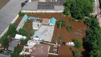 Затопленные после аварии воронежские дома сняли на видео с высоты птичьего полёта