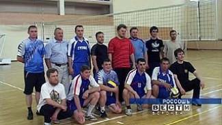 В Россошанском районе прошёл необычный волейбольный матч