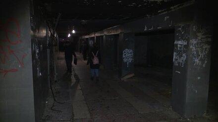 Ремонт сгоревшего перехода у политеха в Воронеже обойдётся в 9 млн