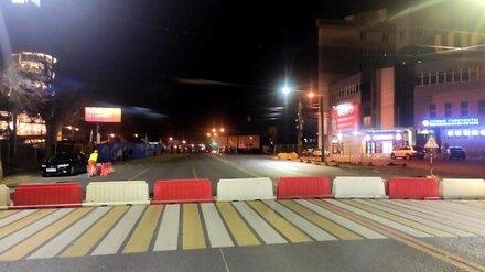 В Воронеже полностью закрыли виадук у «Работницы»