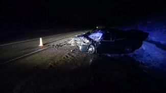 Легковушку разворотило после ДТП с КамАЗом на воронежской трассе: пострадали двое