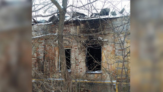 В самом старом доме-памятнике Воронежа вновь полыхал пожар