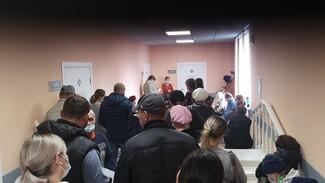 Ковидные очереди добрались до районных воронежских поликлиник