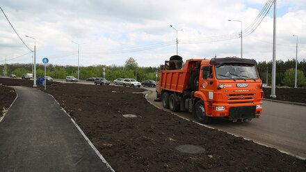 Реконструкцию улицы в воронежском Шилово планируют завершить в июне