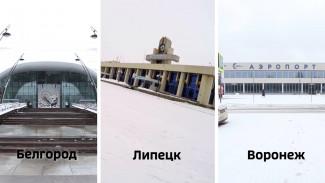 «Ласточка» и динозавр из покрышек. Чем удивляют аэропорты Воронежа, Липецка и Белгорода