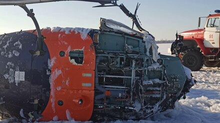 Падение вертолёта под Воронежем привело к уголовному делу