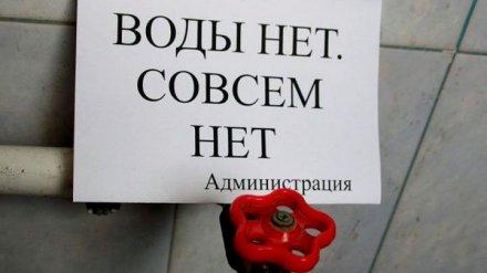 В одном из микрорайонов Воронежа на сутки отключат воду