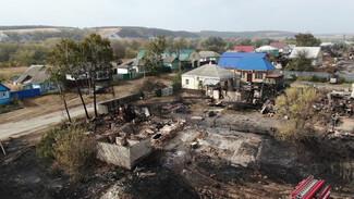 «Апокалипсис какой-то». Как крупный пожар превратил часть воронежского села в пепелище