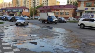 Улицу Шишкова в Воронеже снова затопило канализационными стоками