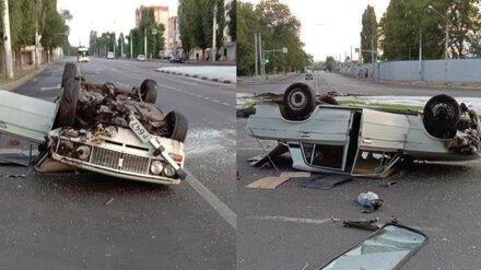 Водитель перевернувшейся на Машмете «шестёрки» сбежал с места ДТП в Воронеже