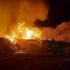Спасатели вблизи показали на фото и видео горящие склады в Воронеже