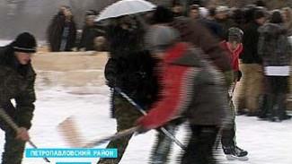 В селе Новобогородицкое Петропавловского района состоялся необычный хоккейный матч