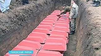 В Рамонском районе земле предали останки более 100 бойцов советской армии