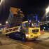 В Воронеже грузовик снёс опору с дорожными знаками