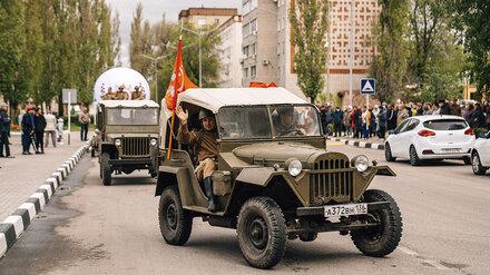 Техника времён Великой Отечественной войны проехала по улицам Нововоронежа 9 мая