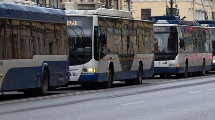 В Воронеже один из троллейбусных маршрутов закрыли из-за обновления проспекта Революции