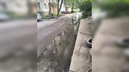 Воронежцы сообщили о затопившей улицу фекальной реке