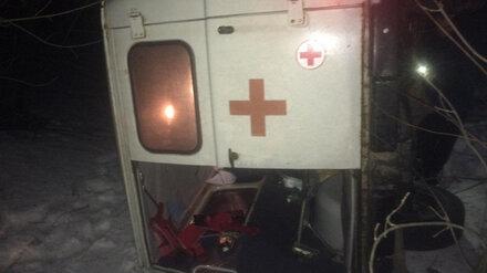 В Воронежской области перевернулась скорая: пострадала пожилая пациентка