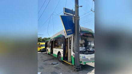 Перевозчик назвал возможные причины ДТП с врезавшейся в столб маршруткой в центре Воронежа
