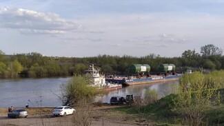 Два парогенератора сплавили по Дону через Воронежскую область на Курскую АЭС-2