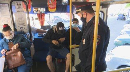 В автобусах Воронежа проведут рейды по проверке наличия масок у пассажиров