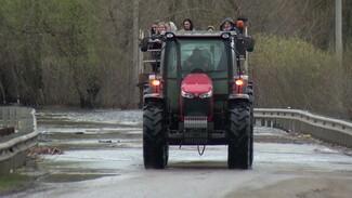 Полсотни с пассажира. Как жители села под Воронежем преодолевают потоп на тракторе