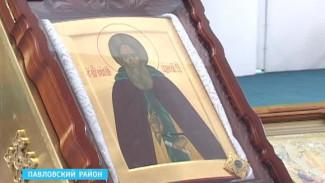 По храмам Воронежской области путешествует Икона Сергия Радонежского