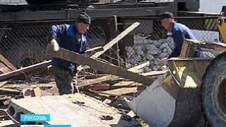 В Россоши разбирают завалы после взрыва