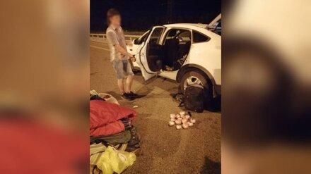 Наркокурьера с 1,8 кг амфетамина задержали на трассе в Воронеже