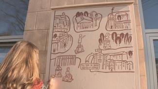 Уличный шкаф как искусство. В Воронеже появились новые арт-объекты