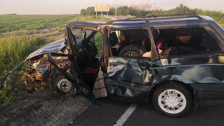Три девочки пострадали в ДТП с двумя легковушками в Воронежской области
