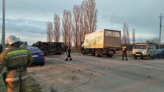 После массового ДТП под Воронежем в больницу попали два водителя