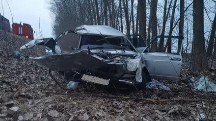 В Воронежской области легковушка влетела в дерево: погибли два пенсионера