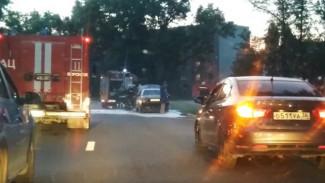 В Воронеже на дороге загорелась Audi