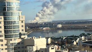 Воронежцы сообщили о крупном пожаре на Левом берегу
