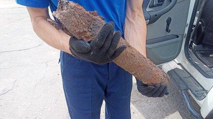 В Воронеже у облдумы выкопали реактивный снаряд