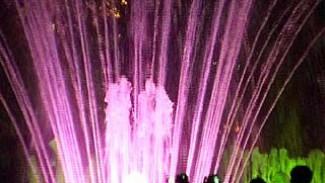 В Кольцовском сквере состоялось открытие фонтана