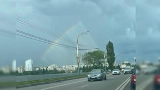 Воронежцы заметили в небе треугольную радугу