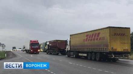 В Воронежской области пробка у села Лосево на трассе М-4 «Дон» превысила 15 км