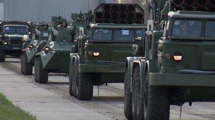 Военные завершили подготовку техники к параду Победы в Воронеже