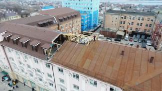 В Воронеже горело соседнее с пожарной частью здание