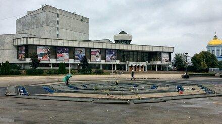 «Сухие фонтаны» на Советской площади Воронежа отправили на зимовку