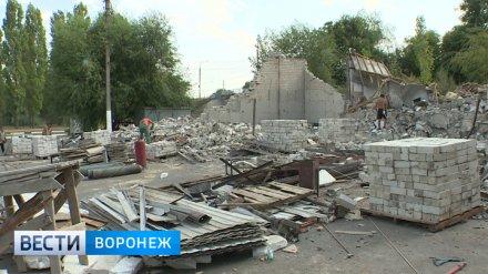 В Воронеже сносят кафе и павильоны, землю под которыми похитили из госсобственности