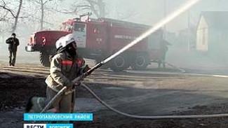 В Петропавловском районе прошли совместные учения МЧС с добровольными дружинами