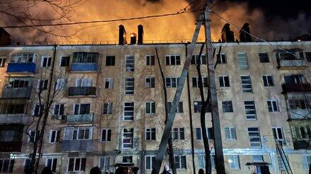 В Воронеже потушили горящую пятиэтажку, из которой эвакуировали 177 жильцов