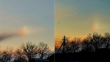 В День всех влюблённых воронежцы увидели в небе редкую радугу