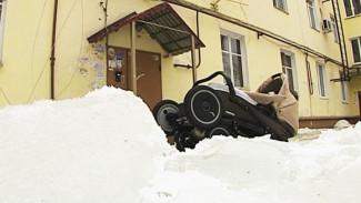 В Воронеже возбуждено очередное дело по факту падения наледи с крыши
